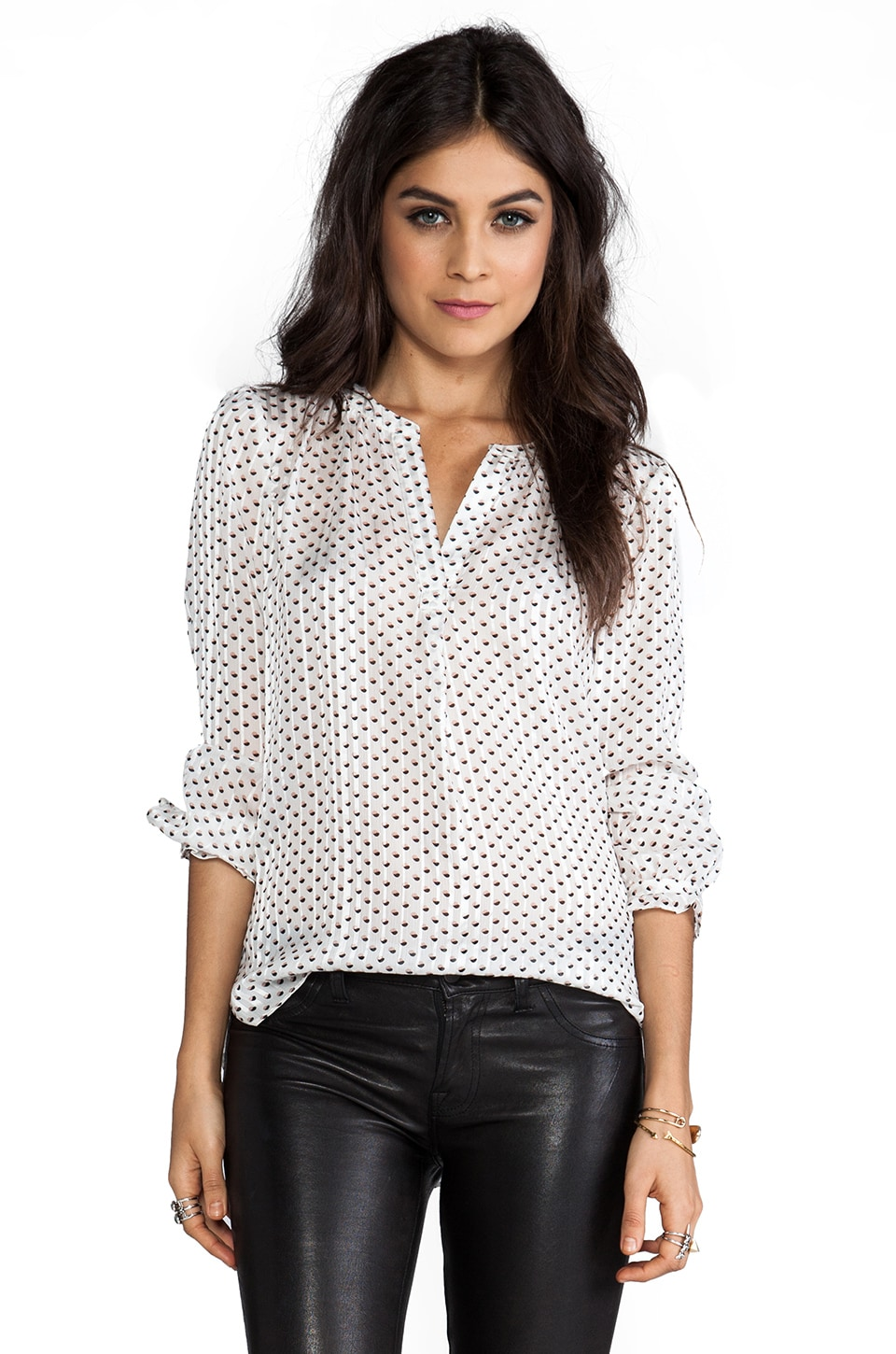Marc by Marc Jacobs Minette Print Blouse in Antique White Multi