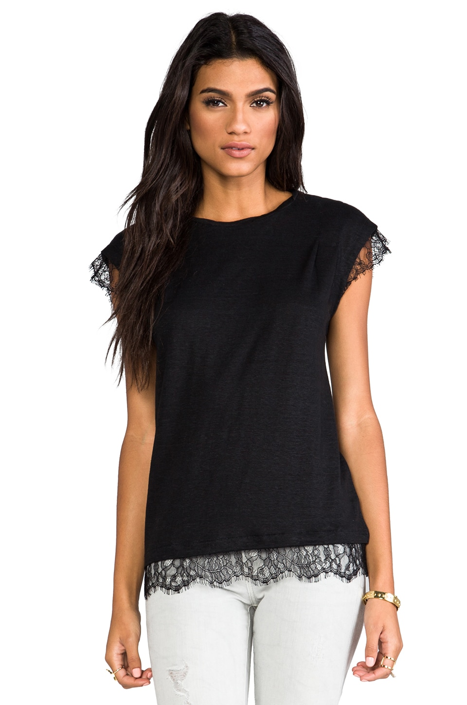 Marc by Marc Jacobs Carmen Jersey Tee in Black