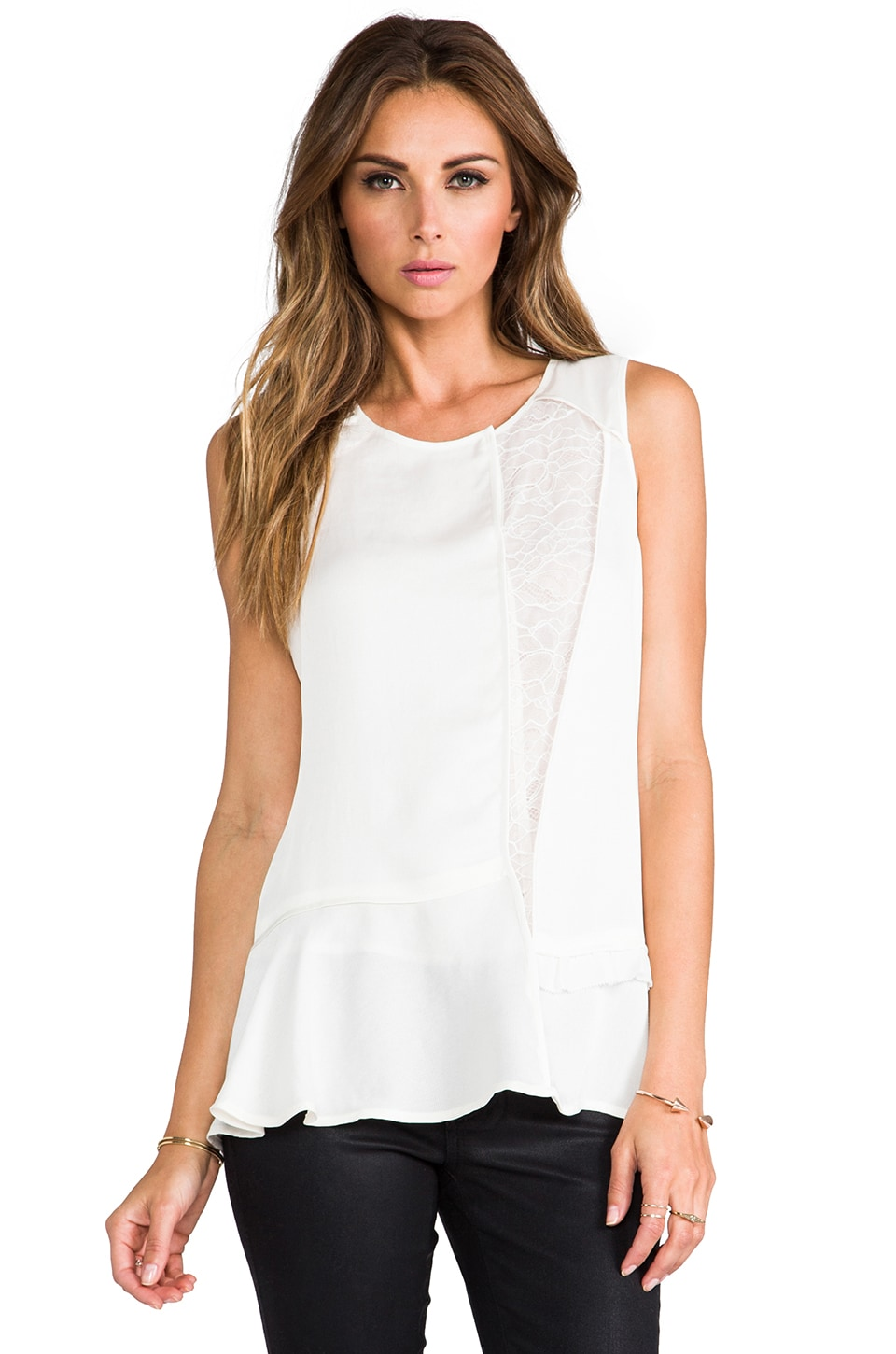 Marc by Marc Jacobs Victoria Lace Top in Whisper White