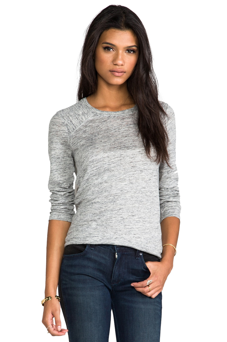 Marc by Marc Jacobs Carmen Jersey Top in Grey Melange