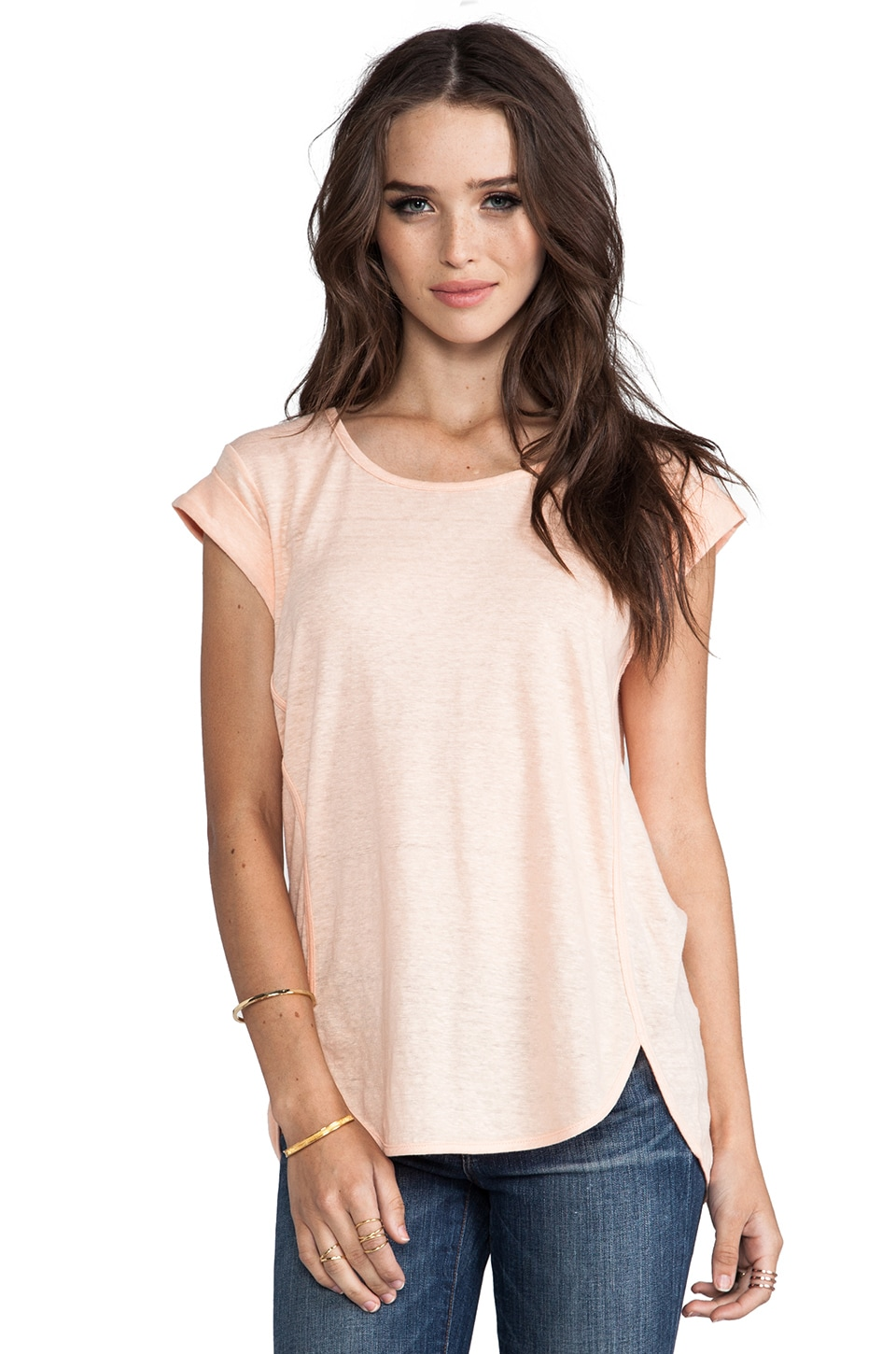 Marc by Marc Jacobs Carmen Tee in Pastel Tangerine