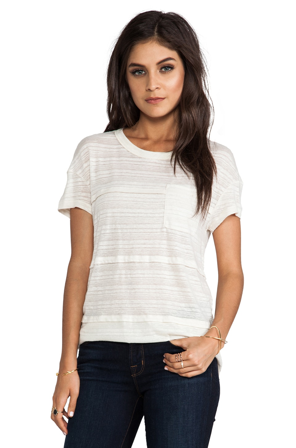 Marc by Marc Jacobs Eloise Ombre Jersey Tee in Antique White