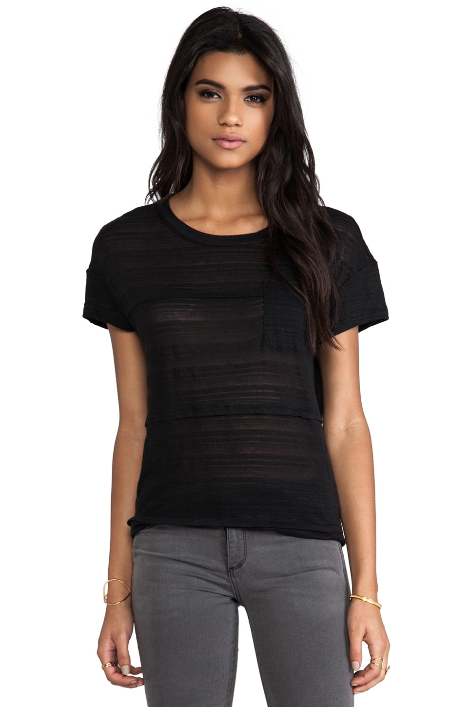 Marc by Marc Jacobs Eloise Ombre Jersey Tee in Black