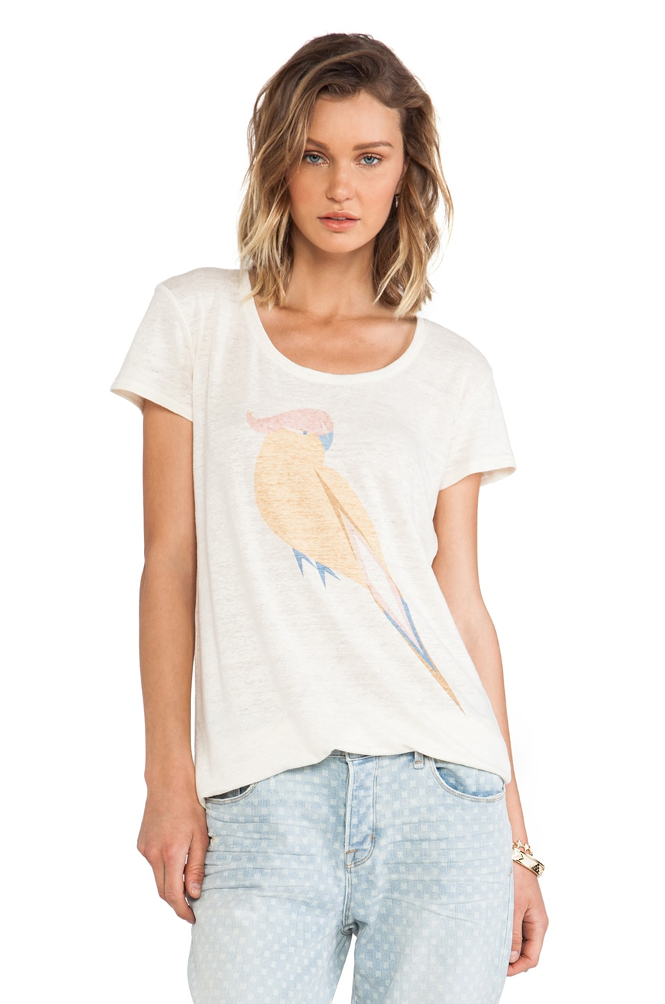 Marc by Marc Jacobs Capella Graphic Tee in Antique White Multi