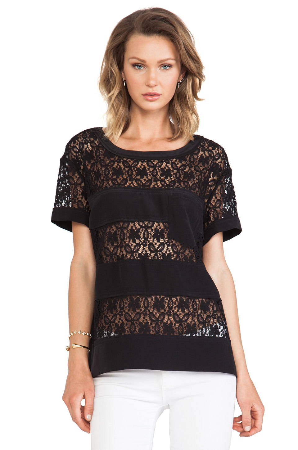 Marc by Marc Jacobs Leila Lace Top in Black