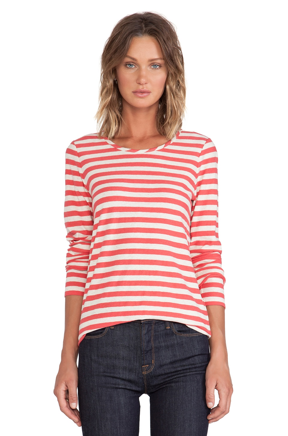 Marc by Marc Jacobs Pam Stripe Jersey Tee in Tabasco Red Multi