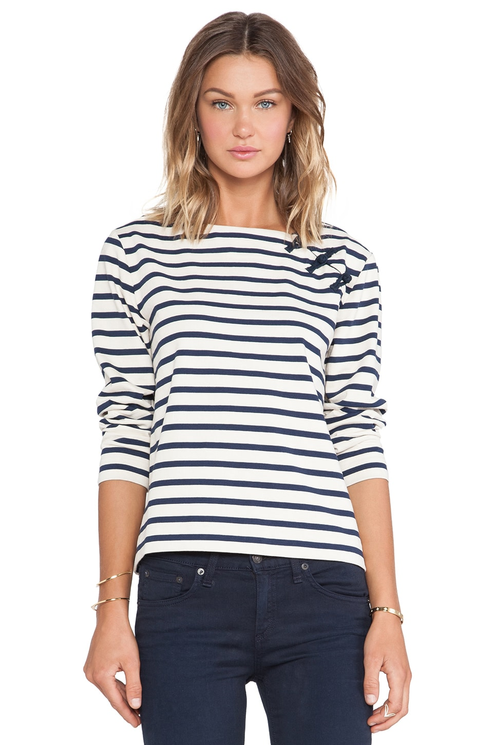 Marc by Marc Jacobs Jacquelyn Stripe Top in Marina Multi