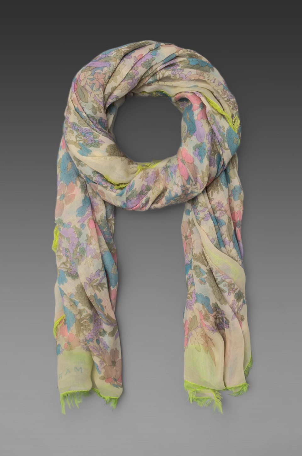 Marc by Marc Jacobs Drew Blossom Scarf in Bone White Multi