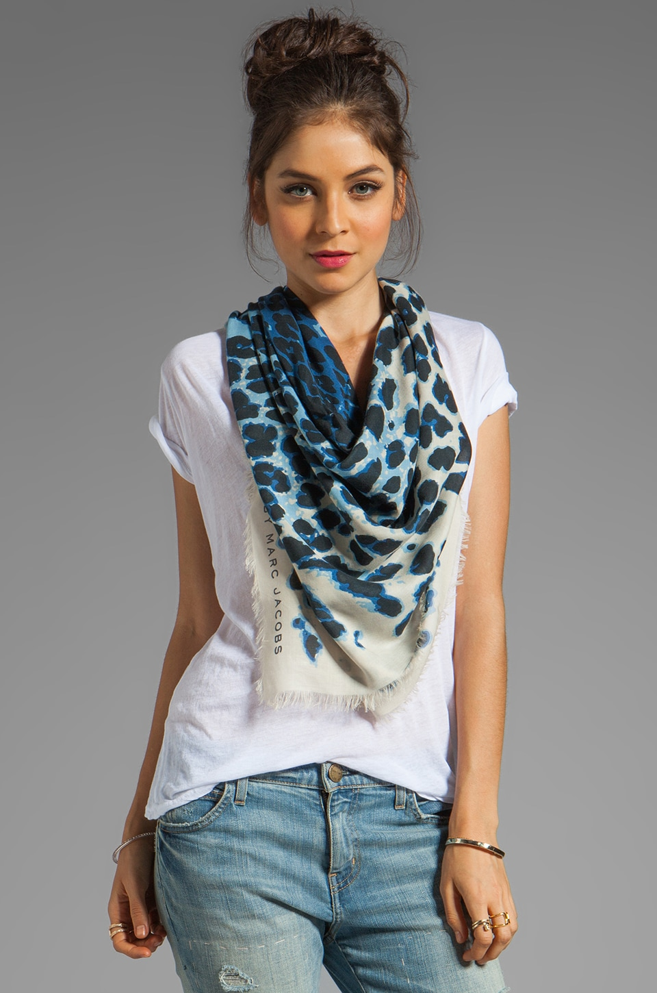 Marc by Marc Jacobs Jaguar Scarf in Pacific Blue Multi