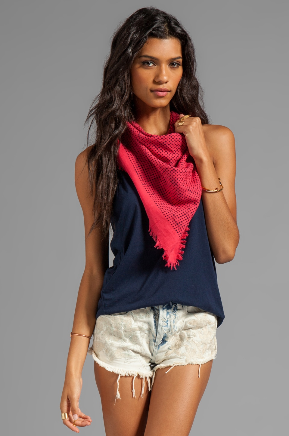 Marc by Marc Jacobs Reluctant Stars Scarf in Rose Petal Multi