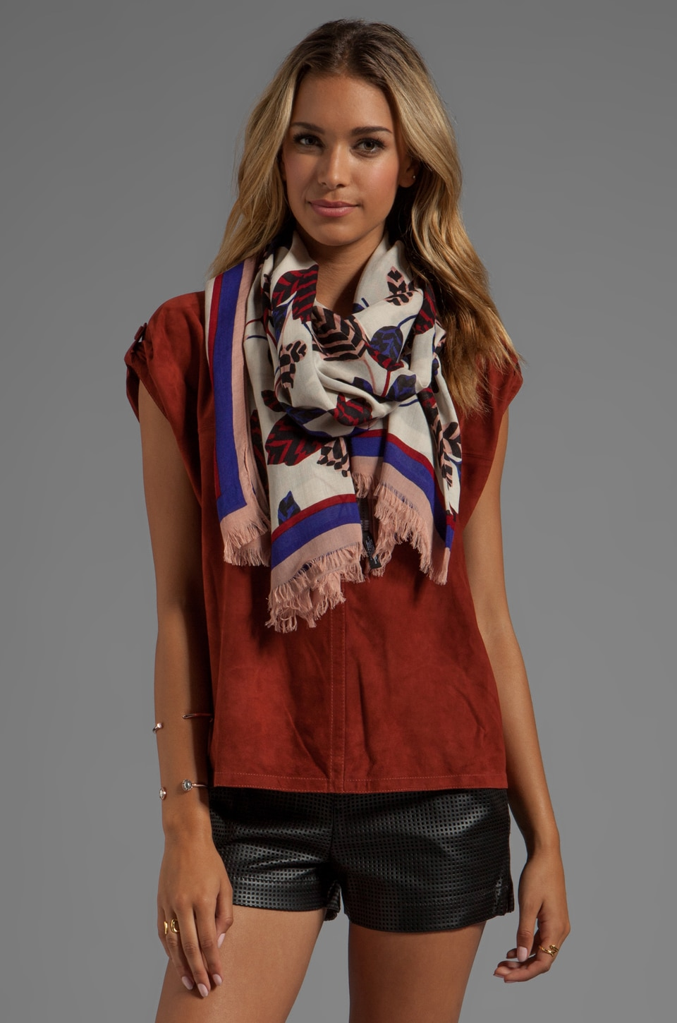 Marc by Marc Jacobs Mareika Tulip Scarf in Persian Purple Multi