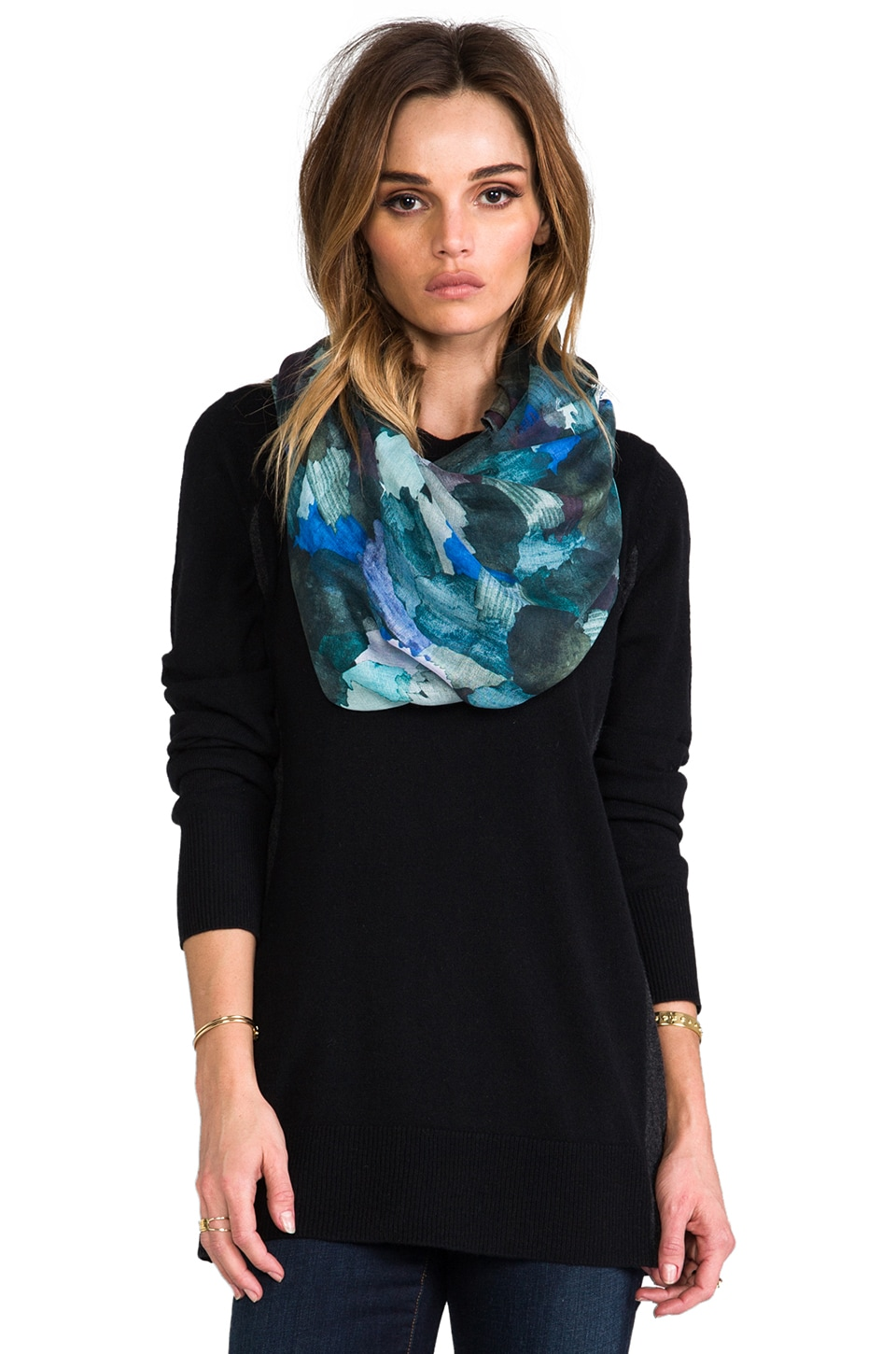 Marc by Marc Jacobs Paint Palette Print Scarf in Blue Multi