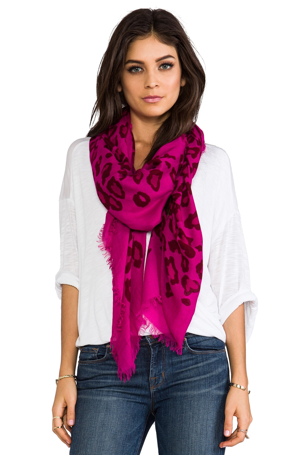 Marc by Marc Jacobs Sasha Leopard Scarf in Pop Pink Multi