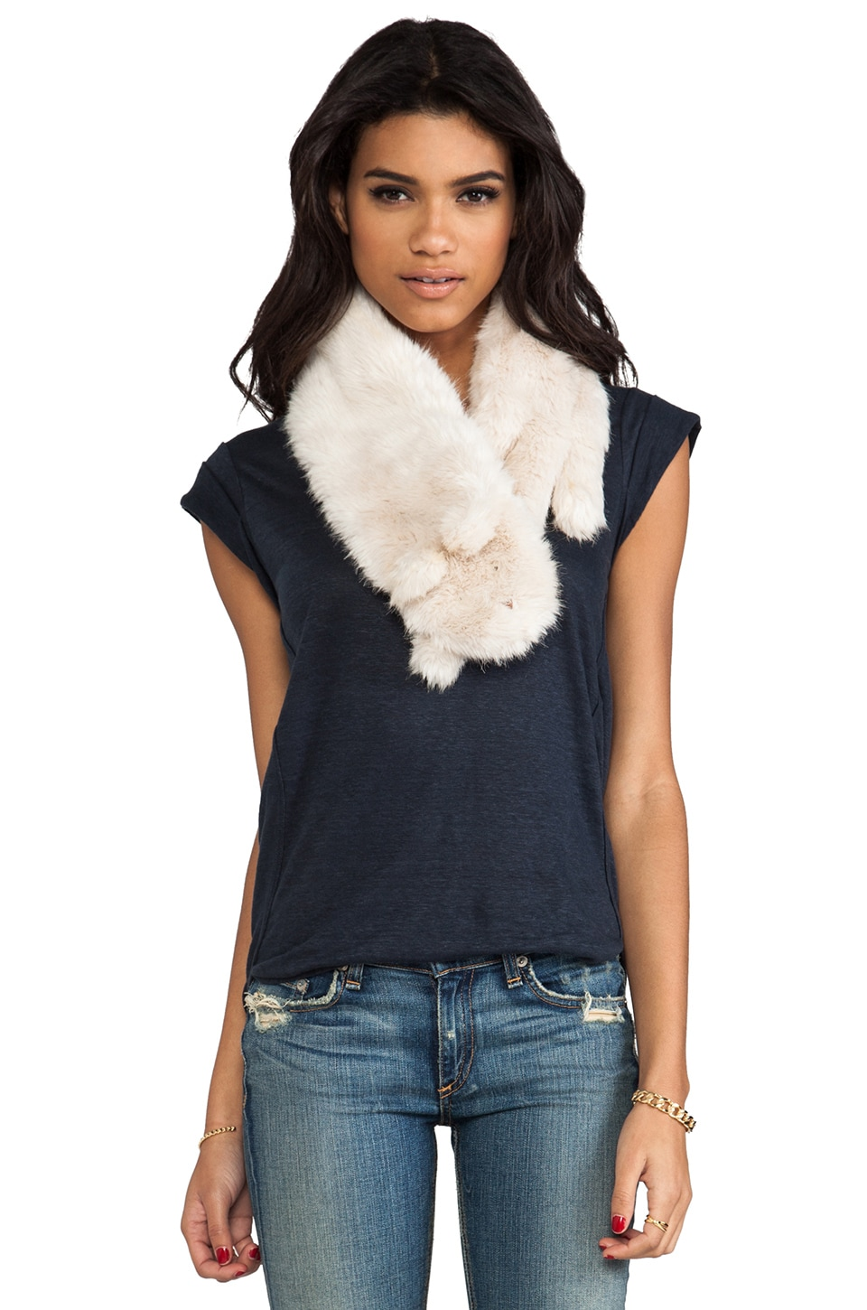 Marc by Marc Jacobs Rue Faux Rabbit Fur in Antique White