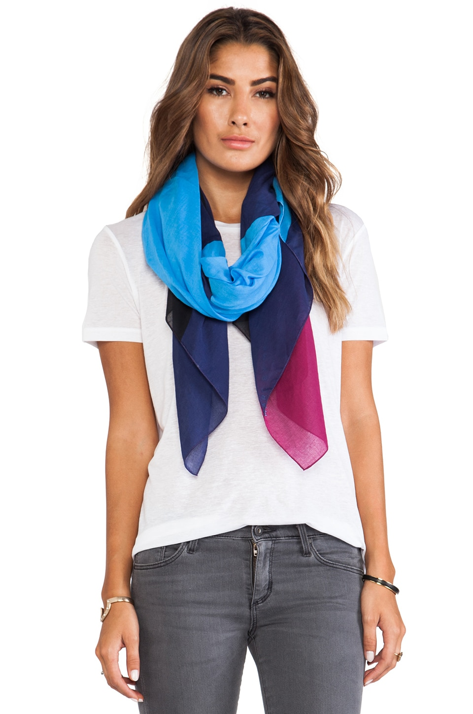 Marc by Marc Jacobs Deco Printed Scarf in Bonnie Blue Multi