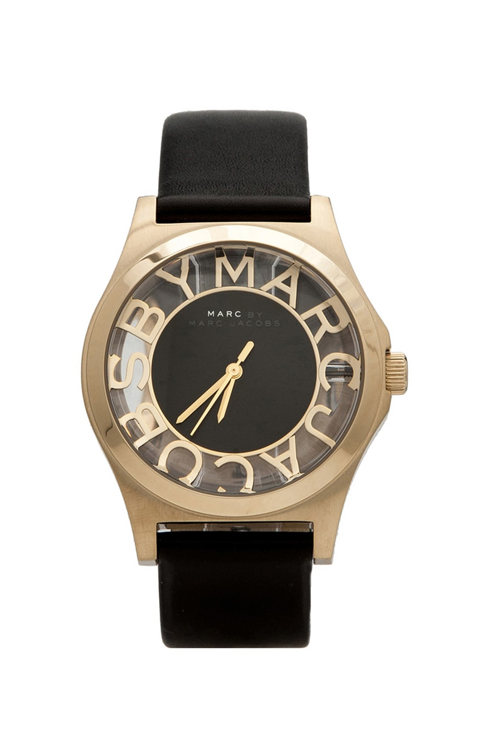 Marc by Marc Jacobs Montre Henry Skeleton en Noir/Doré