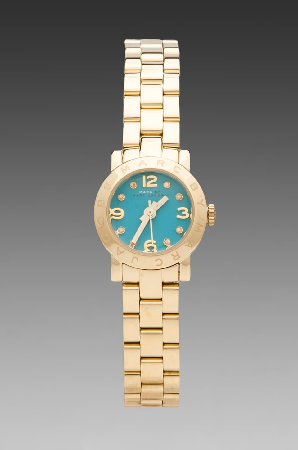Marc by Marc Jacobs Amy Dinky Watch in Aqua/Gold