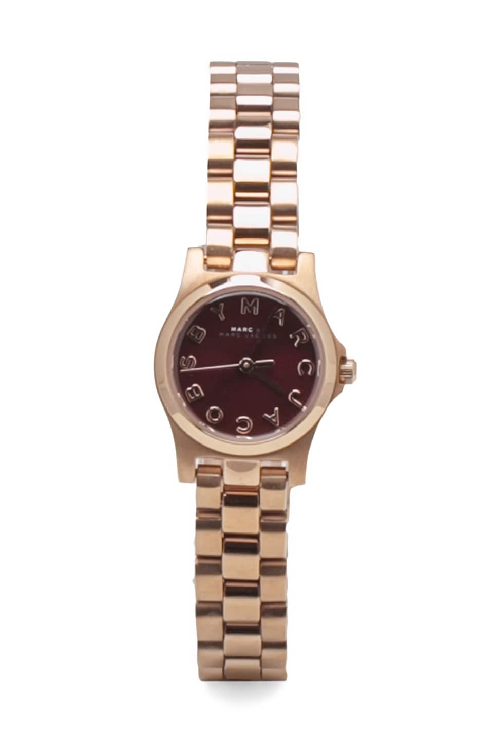 Marc by Marc Jacobs Henry Dinky Watch in Oxblood/Rosegold