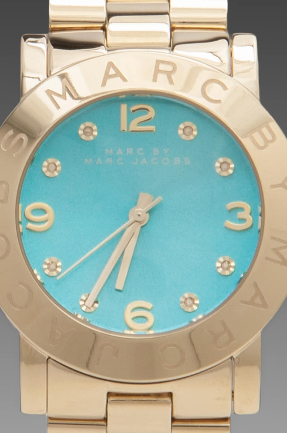 Marc by Marc Jacobs Amy Watch with Turquoise Face in Gold