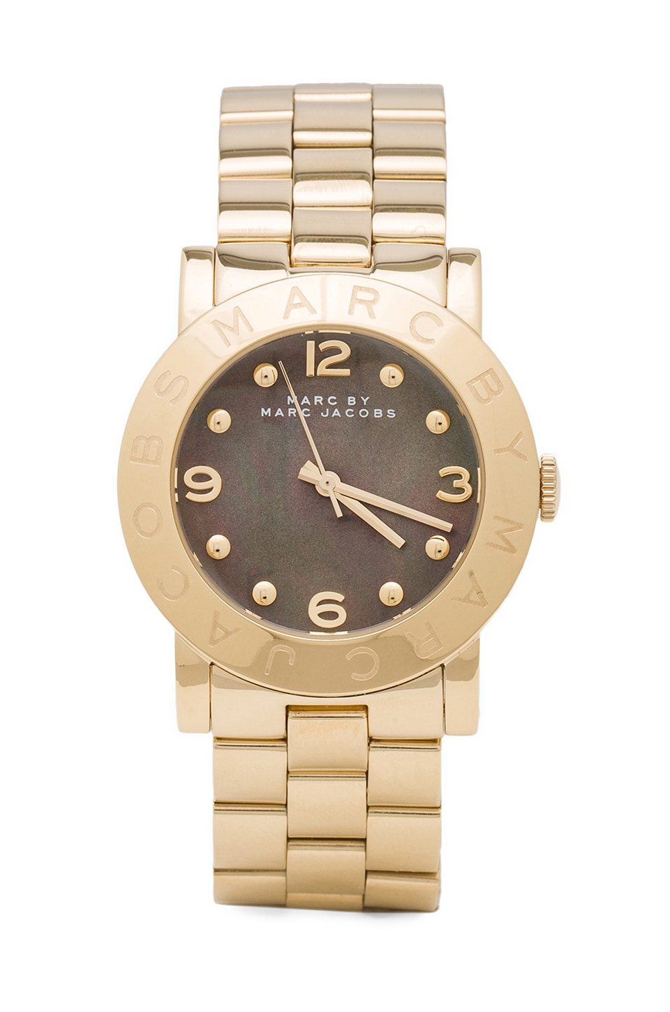 Marc by Marc Jacobs Amy Watch in Gold/Dirty Martini