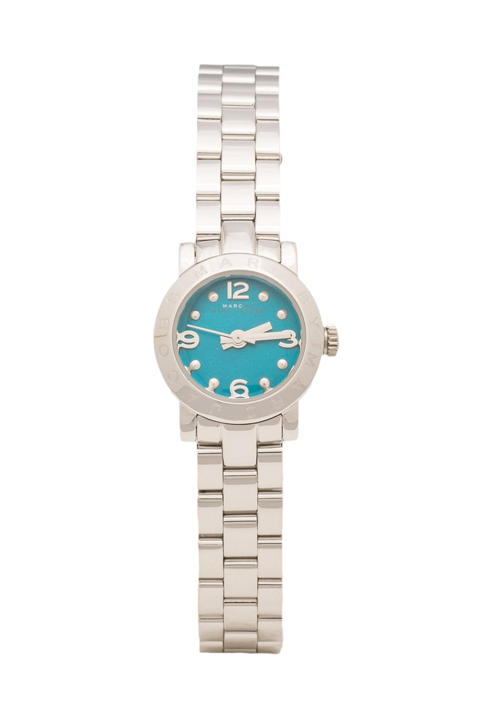 Marc by Marc Jacobs Amy Dinky Watch in Stainless Steel/Painted Teal