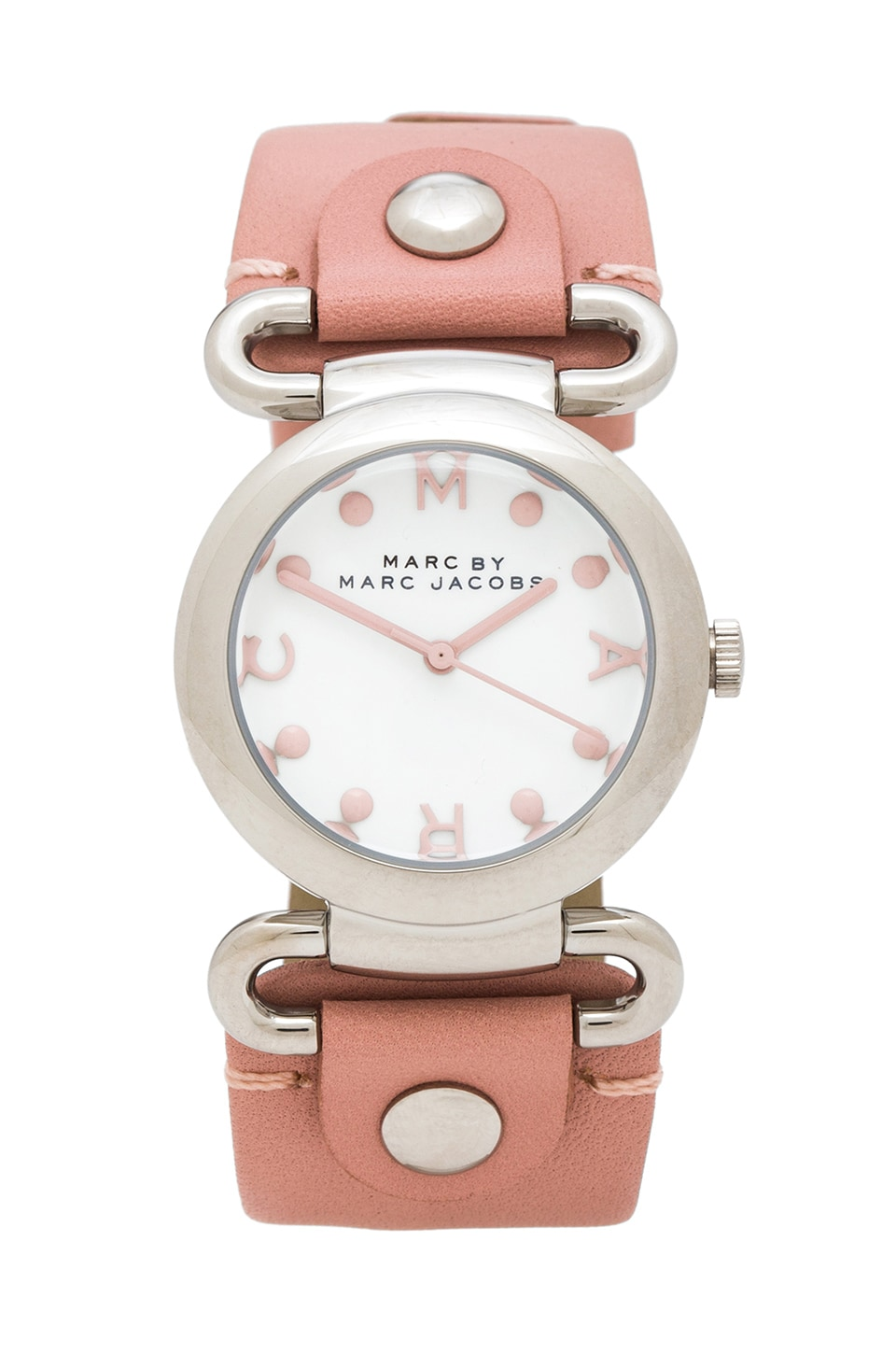 Marc by Marc Jacobs Molly Watch in Stainless Steel & Hazy Rose
