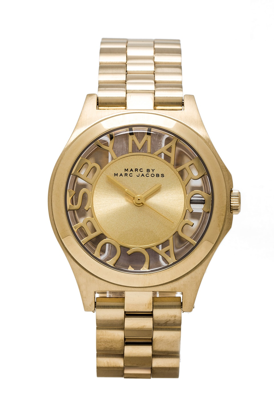 Marc by Marc Jacobs Henry Skeleton Watch in Gold & Gold