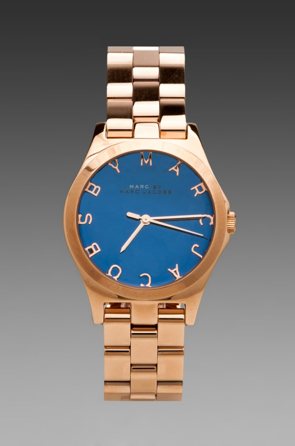 Marc by Marc Jacobs Henry Watch in Malibu Blue/Rosegold