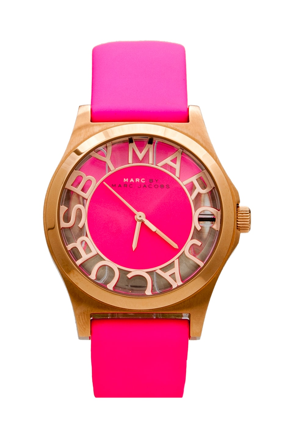 Marc by Marc Jacobs Montre Henry Skeleton en Knockout Pink/Rosegold