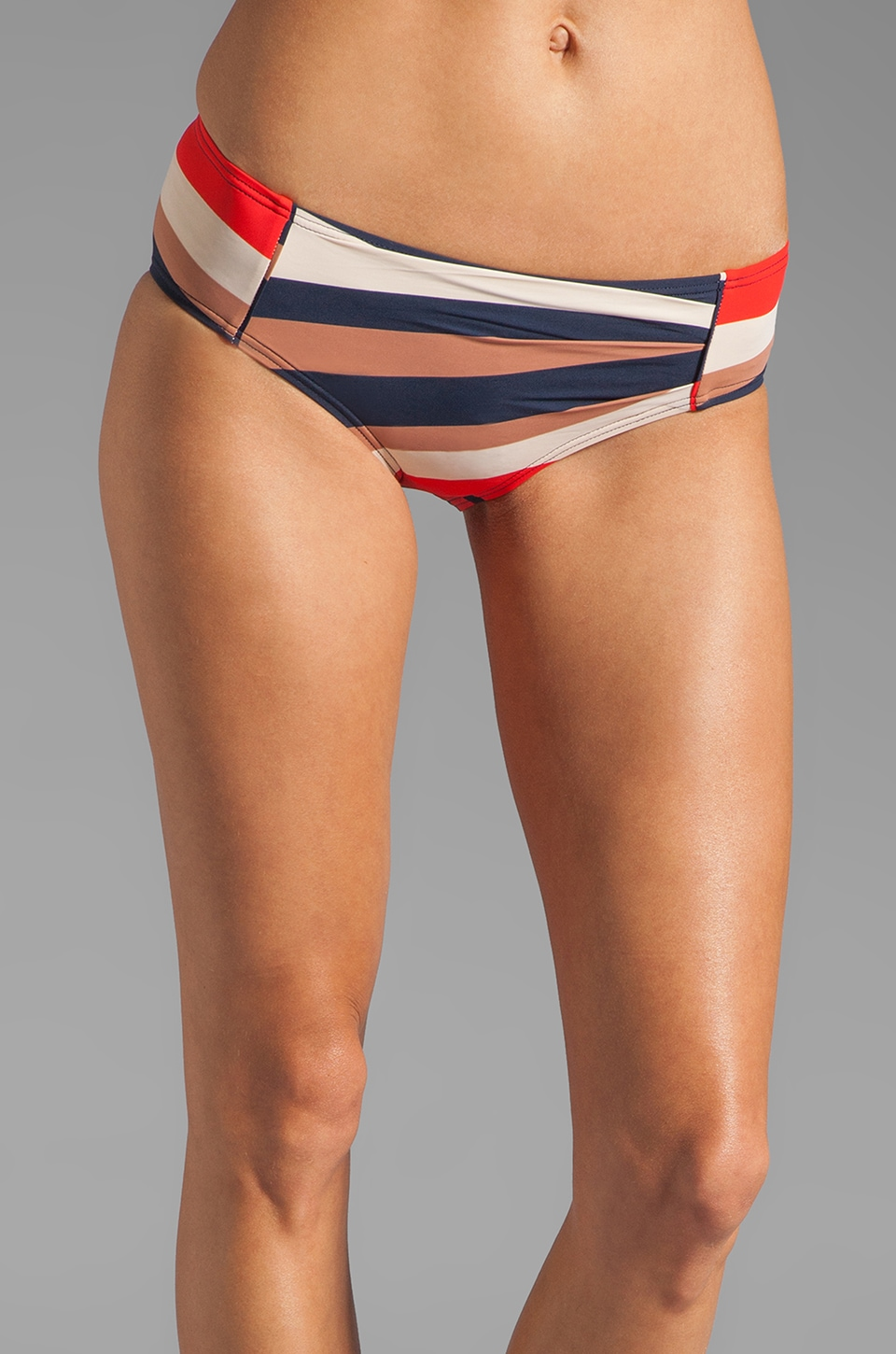 Marc by Marc Jacobs Vintage Stripe Pleated Hipster Bottom in Ink Blue