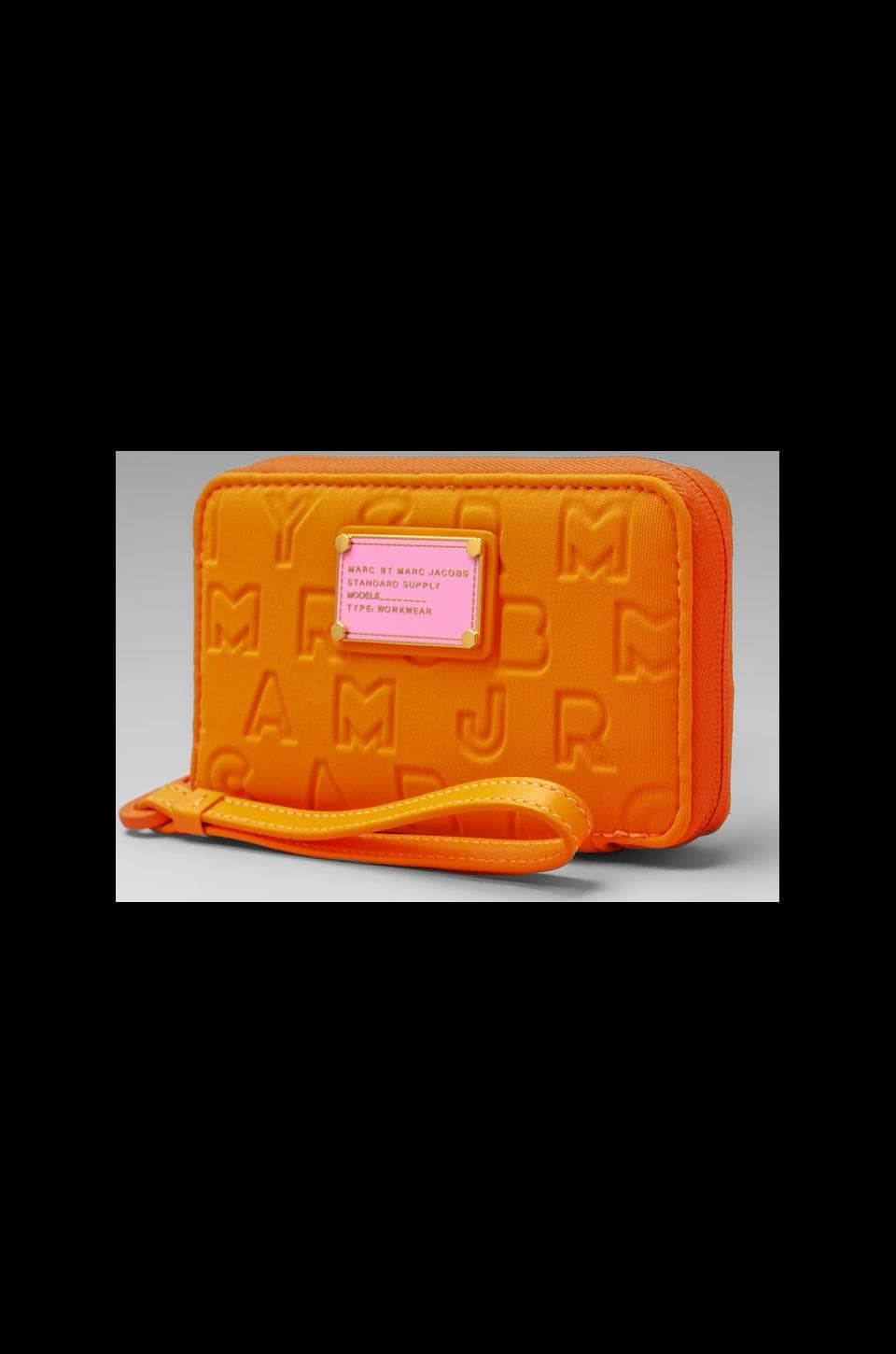 Marc by Marc Jacobs Dreamy Logo Neoprene Wingman in Shocking Orange