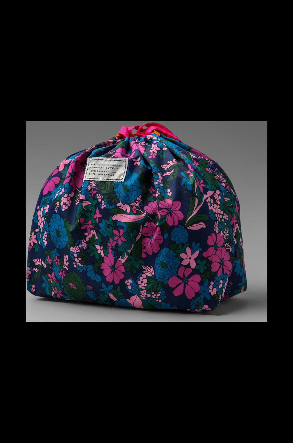 Marc by Marc Jacobs Spot Drew Blossom Drawstring Tote in Estate Blue Multi