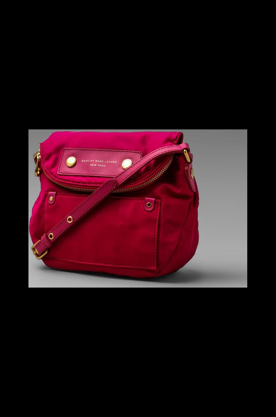 Marc by Marc Jacobs Preppy Nylon Mini Natasha in Fuchsia
