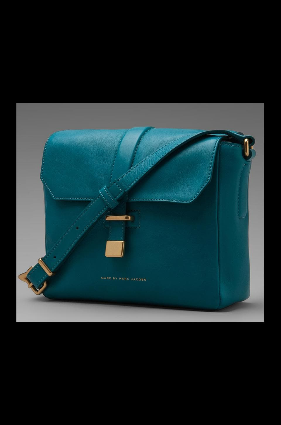 Marc by Marc Jacobs Natural Selection Mini Messenger in Deep Teal