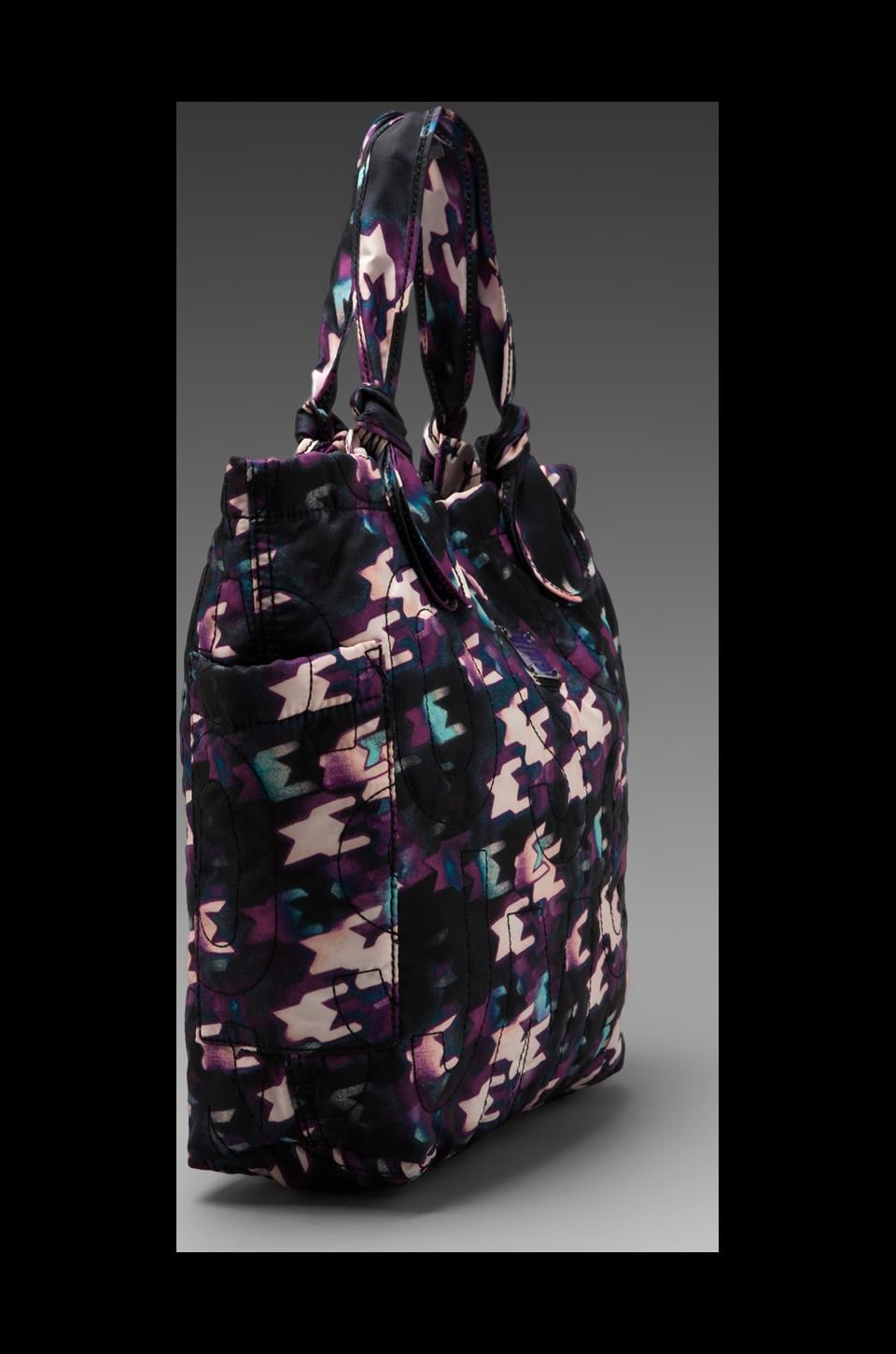 Marc by Marc Jacobs Pretty Nylon Printed Medium Tote in Black Multi
