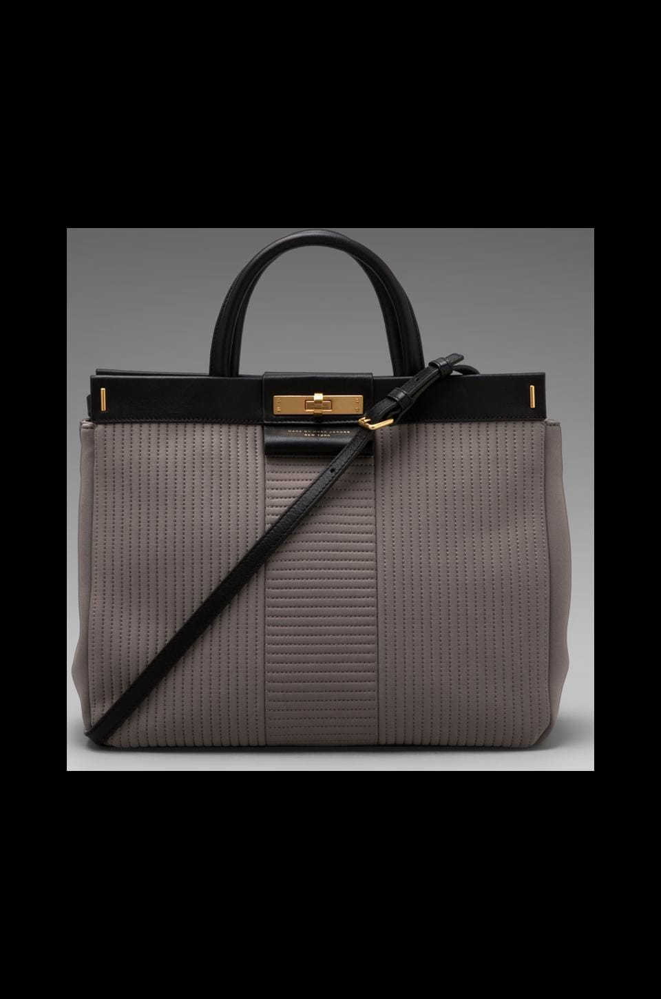 Marc by Marc Jacobs East End Quilted Neoprene Miss Hill Tote in Gravel Grey