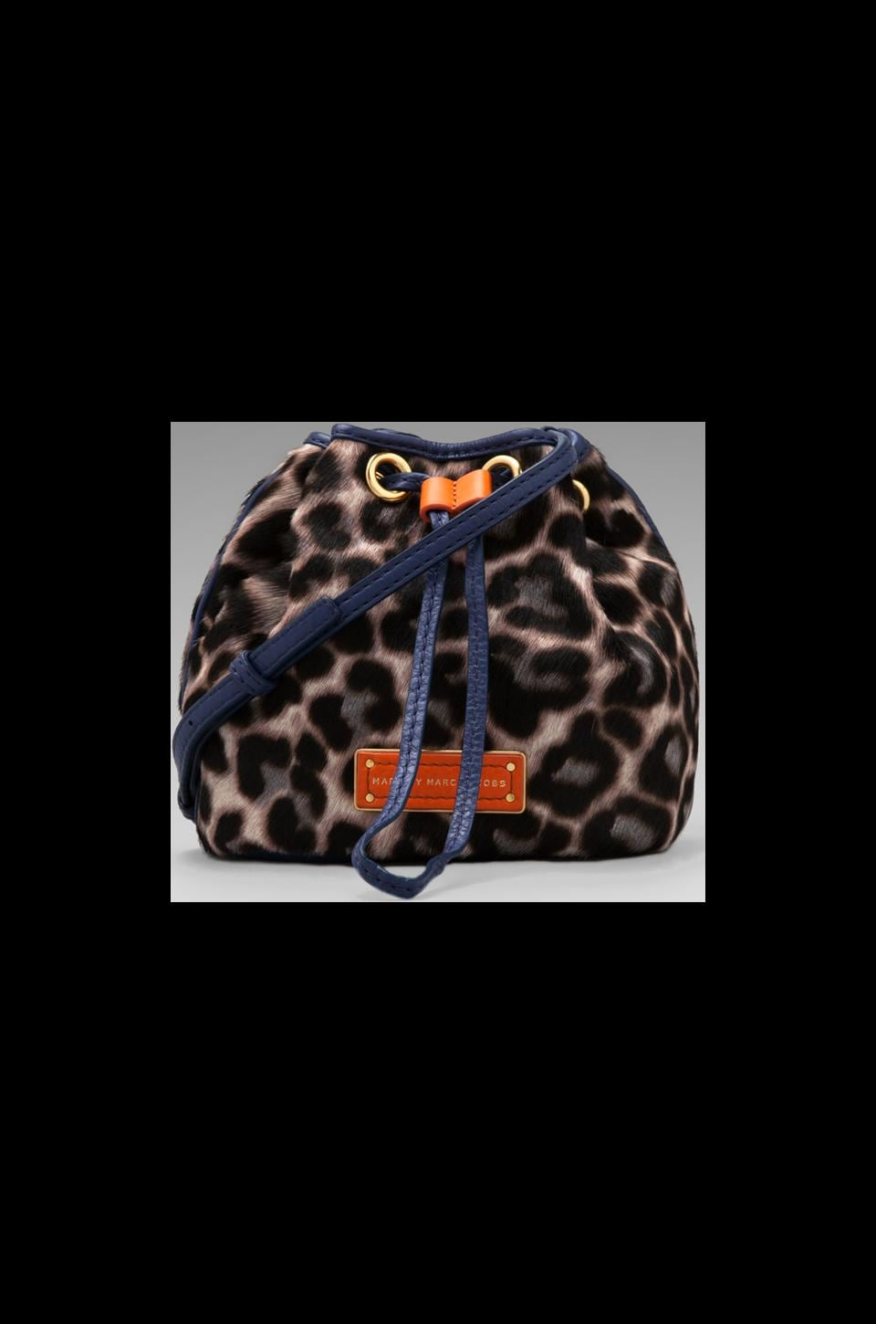 Marc by Marc Jacobs Too Hot to Handle Leopard Mini Drawstring in Royal Purple Multi