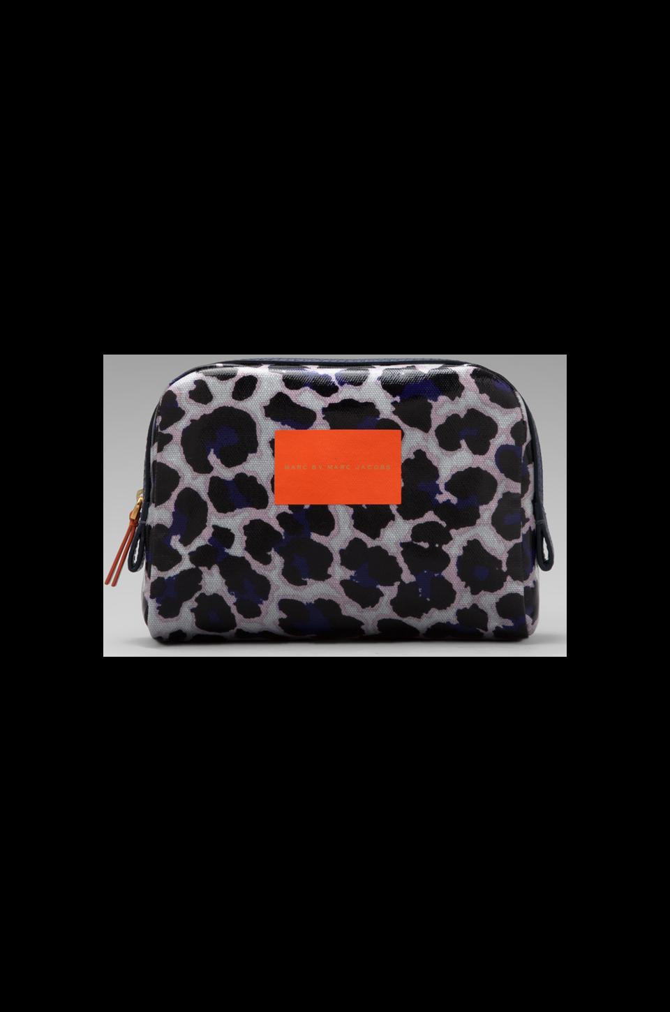 Marc by Marc Jacobs Coated Canvas Large Cosmetic Pouch in Royal Purple Multi