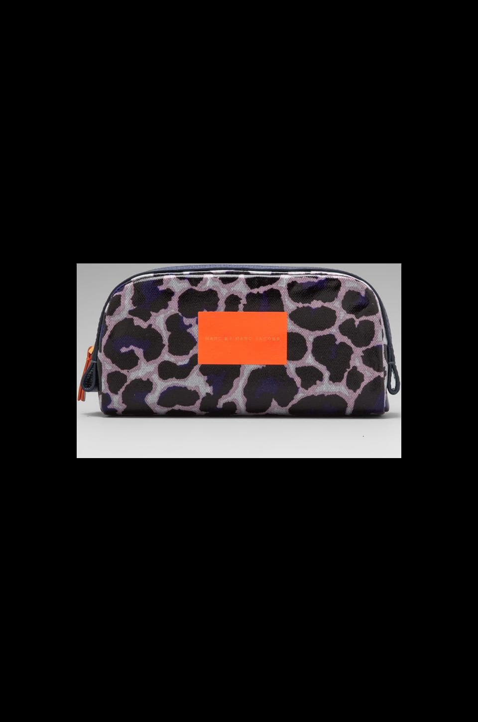 Marc by Marc Jacobs Coated Canvas Landscape Cosmetic Pouch in Royal Purple Multi