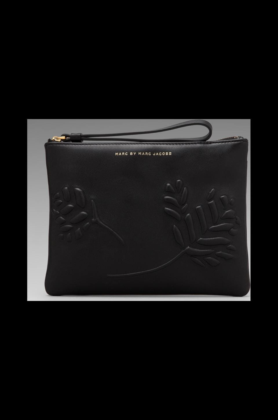 Marc by Marc Jacobs Mini Mareika Leather Wrist Zip Pouch in Black