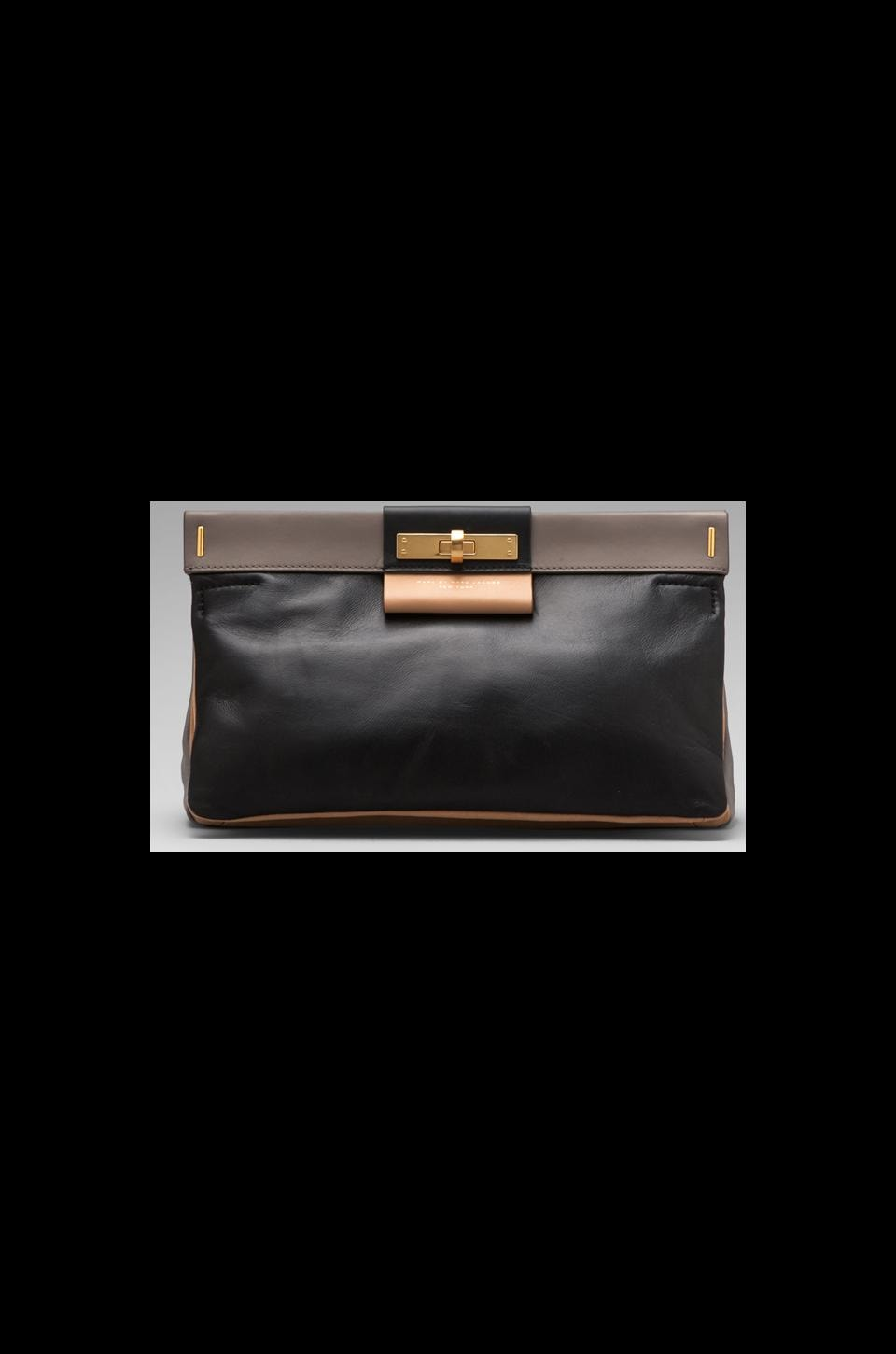 Marc by Marc Jacobs East End Colorblocked Lady Rei Clutch in Black Multi