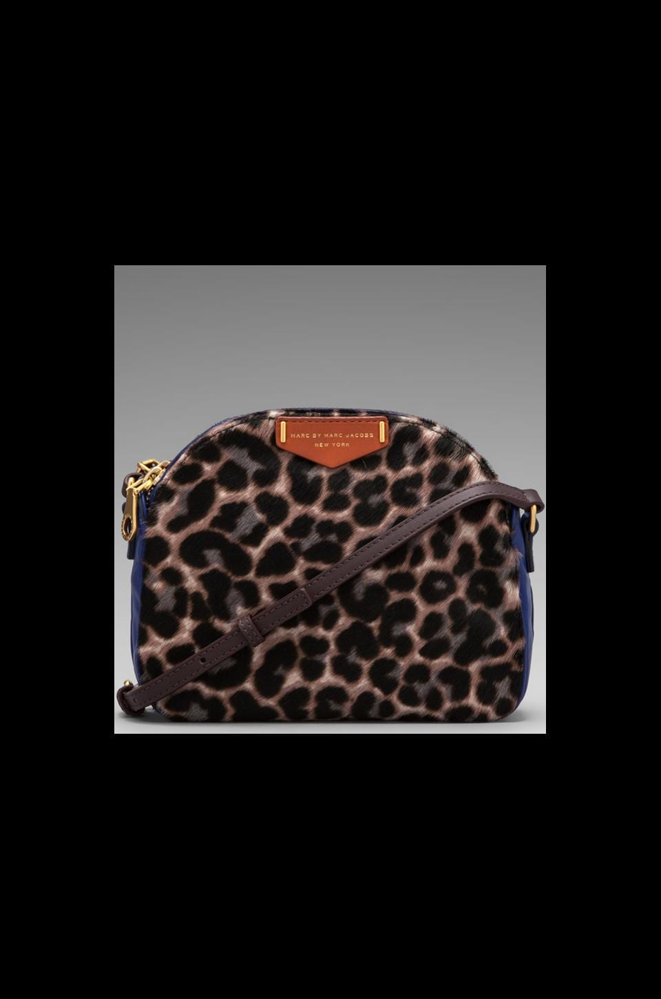 Marc by Marc Jacobs Downtown Lola Leopard Crossbody in Royal Purple Multi