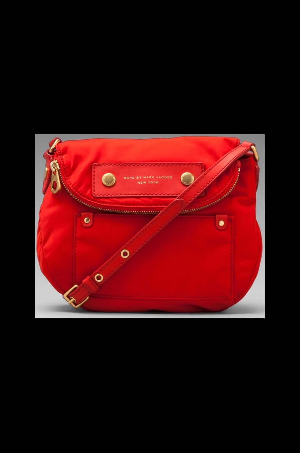 Marc by Marc Jacobs Preppy Nylon Mini Natasha Crossbody in Blaze Red