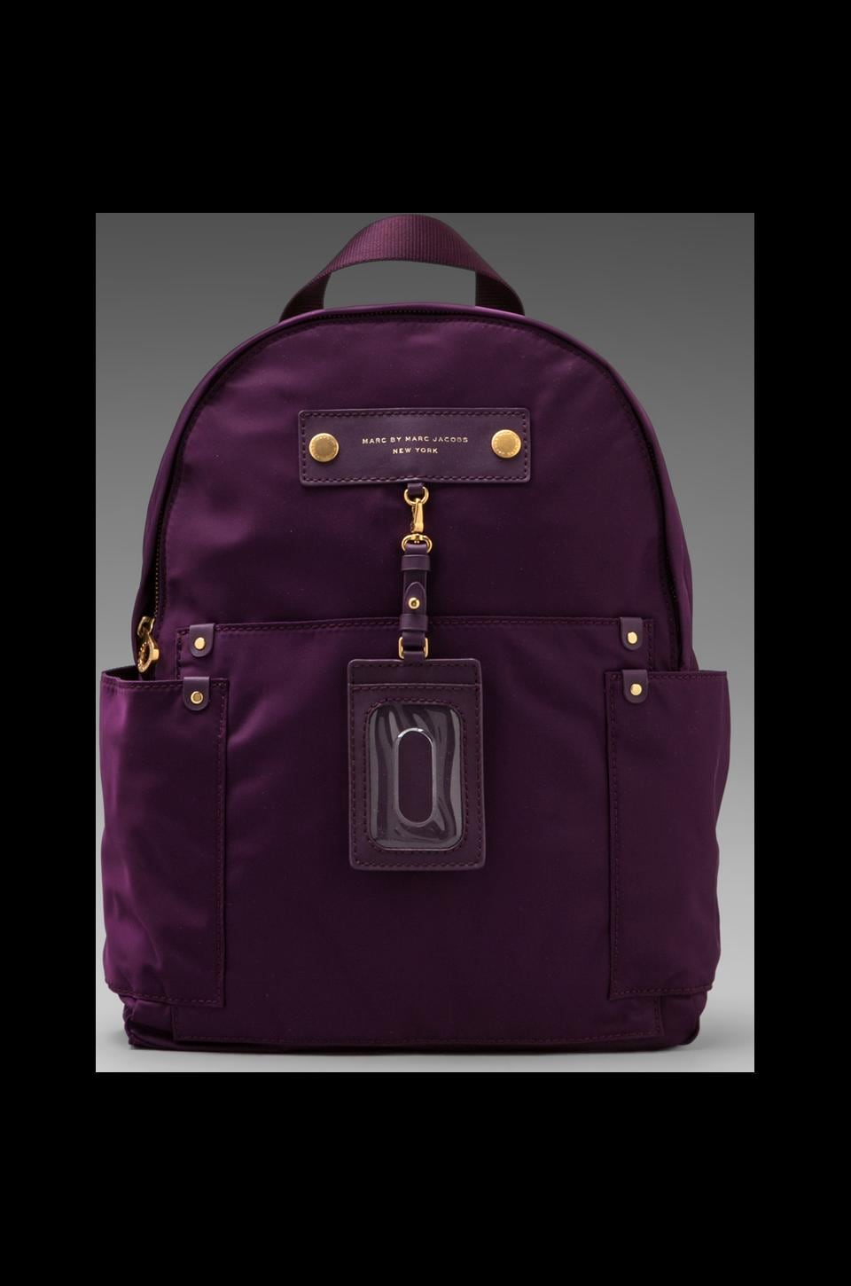 Marc by Marc Jacobs Preppy Nylon Backpack in Pansy Purple