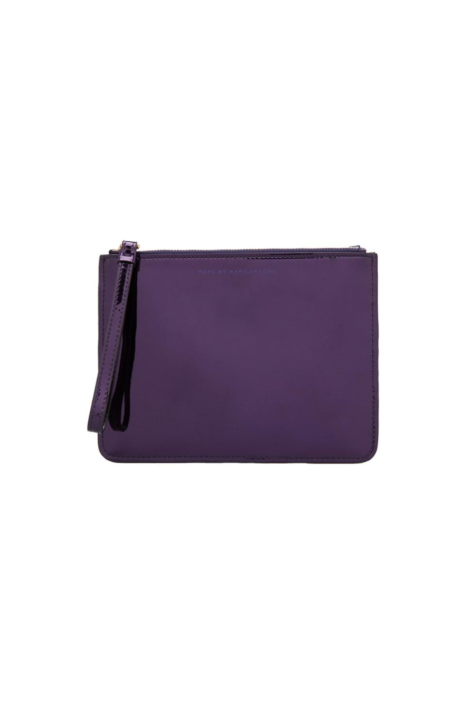 Marc by Marc Jacobs Techno Wristlet Zip Pouch in Purple Holographic
