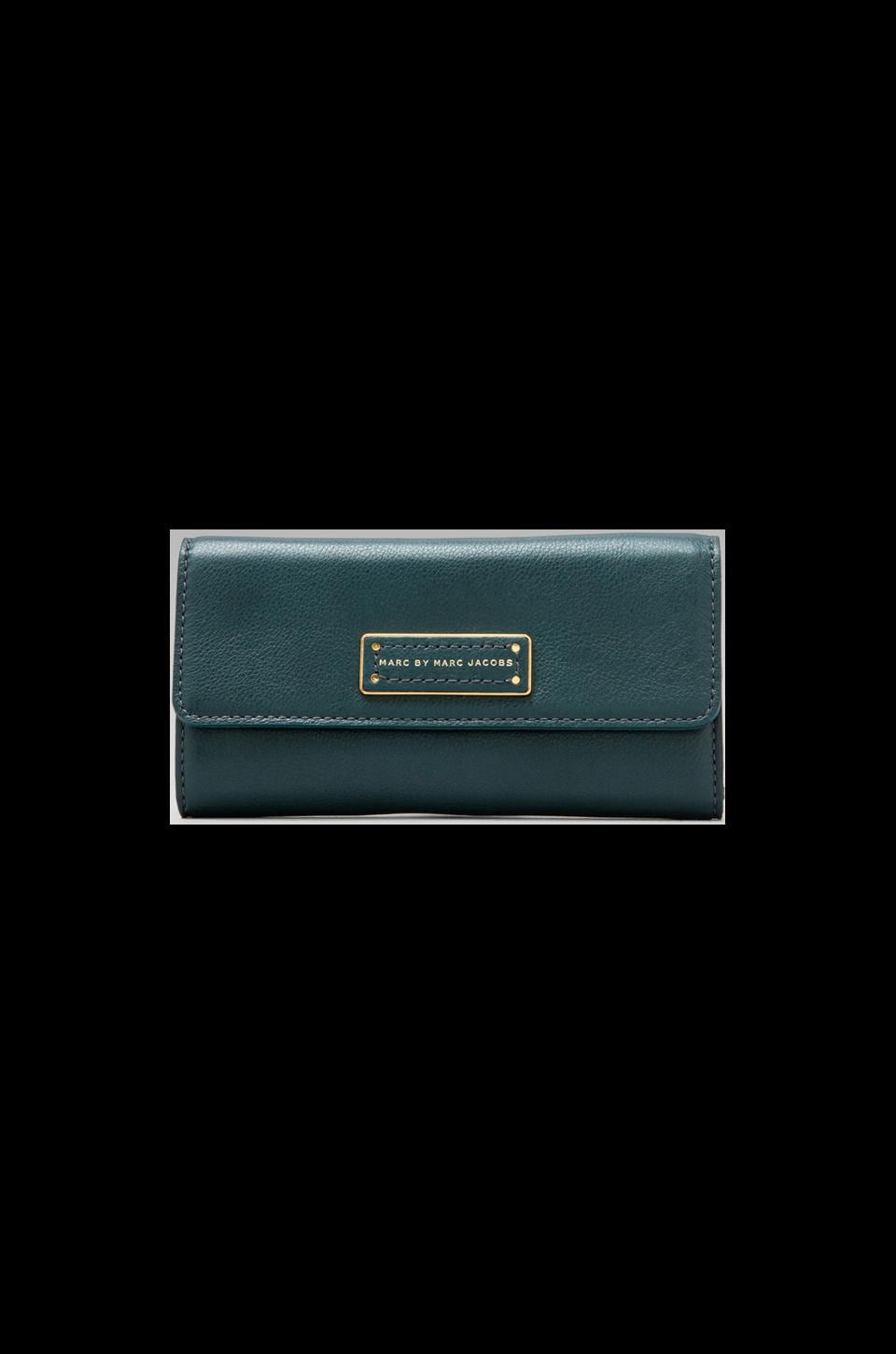 Marc by Marc Jacobs Too Hot to Handle long Trifold in Teal Goblet