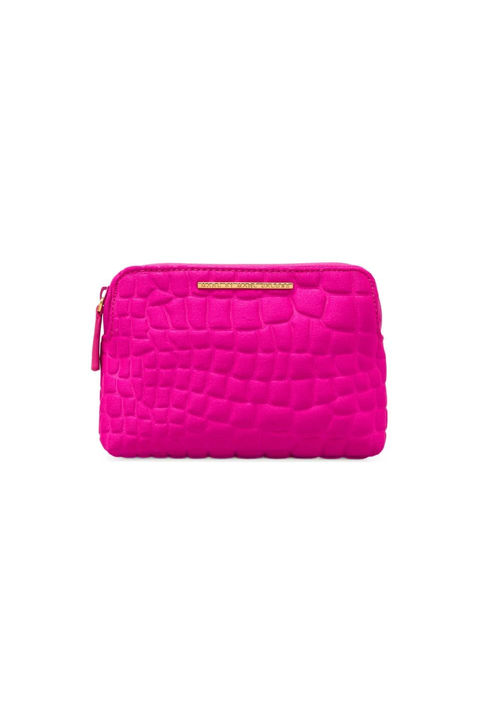 Marc by Marc Jacobs In a Bind Neoprene Mini Cosmetic Case in Pop Pink