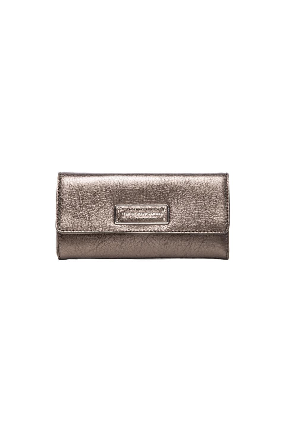 Marc by Marc Jacobs Too Hot to Handle Original Long Trifold in Gunmetal