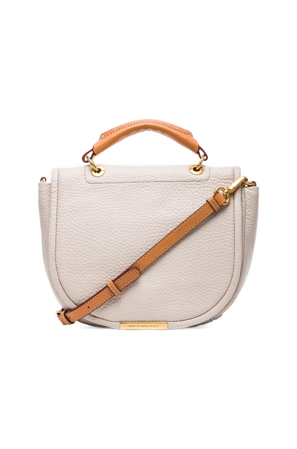 Marc by Marc Jacobs Softy Saddle Top Handle Bag in Papyrus