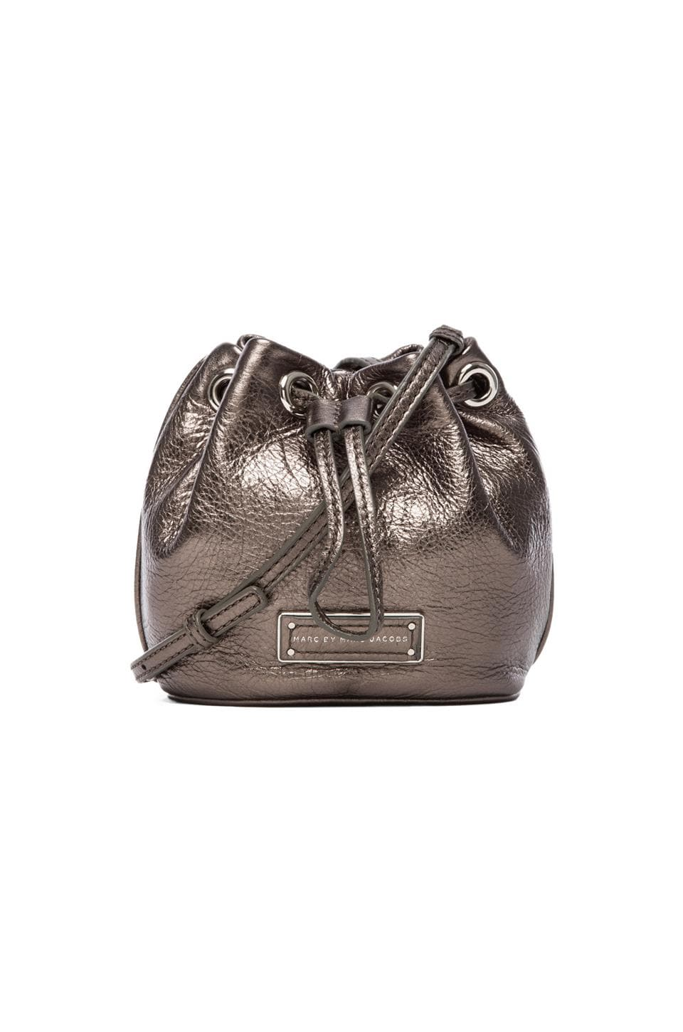 Marc by Marc Jacobs Too Hot To Handle Mini Drawstring Bag in Gunmetal